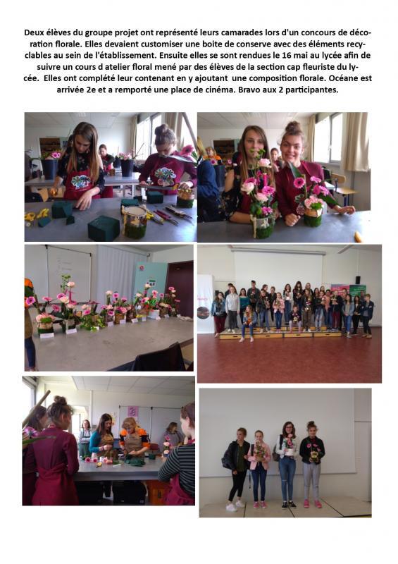 Concours deco florale