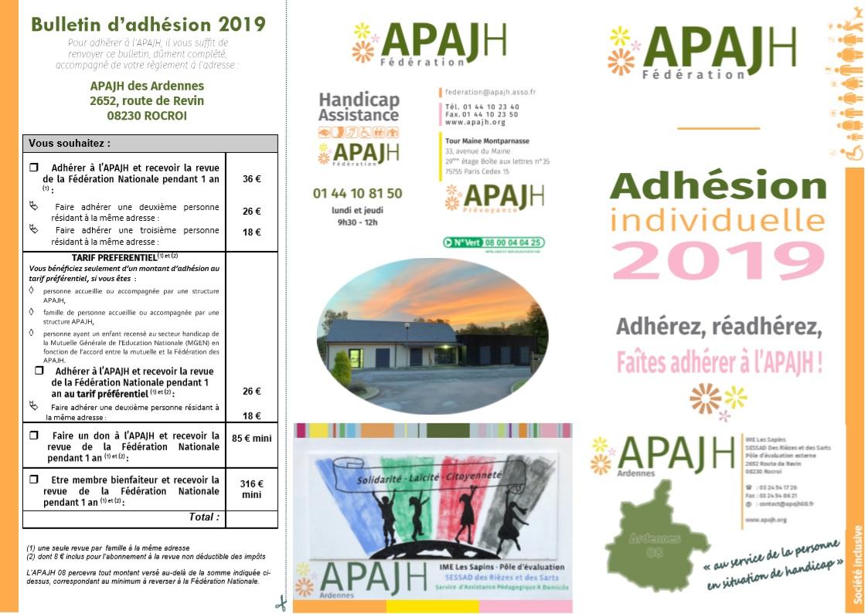 Triptic adhesion apajh08 2019