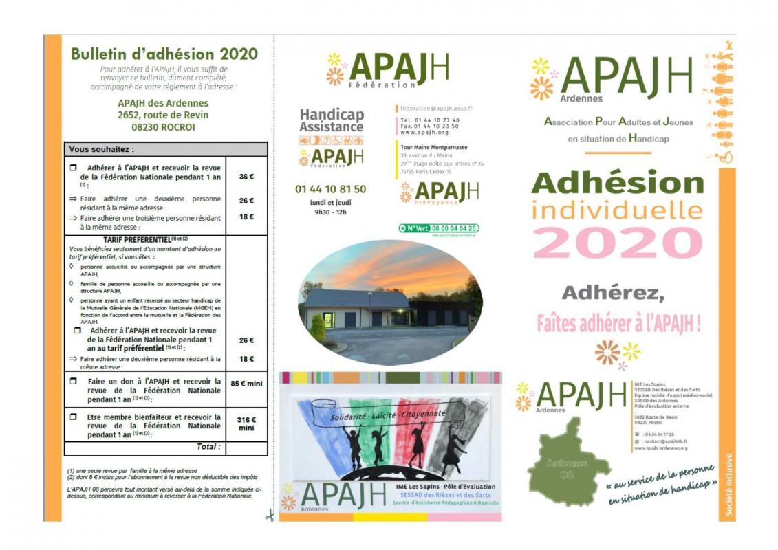 Bulletin d adhesion 2020